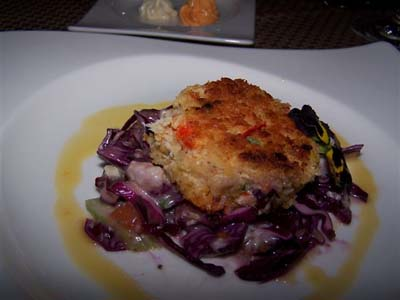 Dungeness Crab Cakes With Cabbage Slaw Recipe — Dishmaps