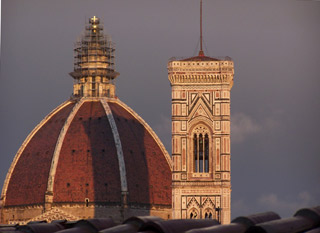 Duomo from the roof at J.K. Place Firenze