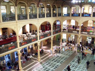 Multimedia Library in the Sala Borsa, the old stock exchange in Bologna.