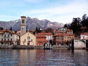 Village view from Lake Como