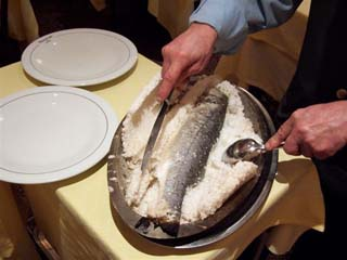 Roma - Parioli - La Scala - Salt baked fish
