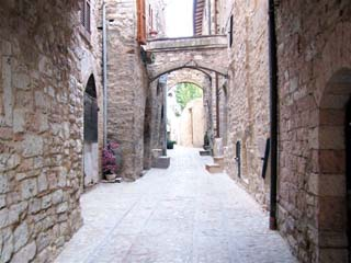 Spello - stone archways