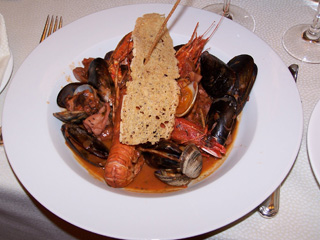 Shellfish never had it so good as in this spicy rendition of fish soup at Tombolo Talasso Resort in Tuscany.