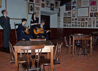 Fado Club as depicted in the Fado and Guitar Museum, Lisbon, Portugal.