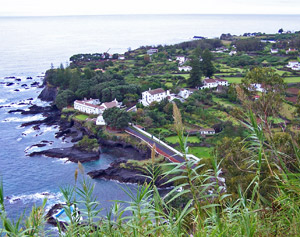 Caloura, the southernmost point of Sao Miguel, Azores